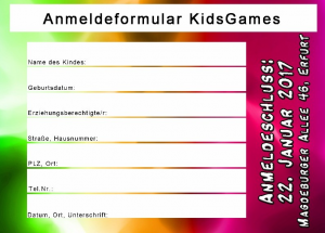 anmeldeformular