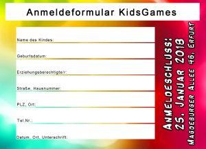 KidsGames18 Anmeldung